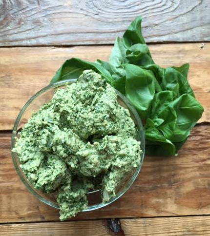 kale and basil pesto
